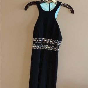 Full length black formal gown, size 1, NWT